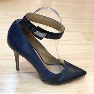 COACH Harbor ankle strap pointed toe pumps, 8 38.